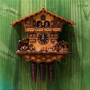 Relógio Cuco Fazendinha Mecânico Semanal Musical
