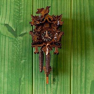 Relógio Cuco Esquilos Mecânico Diário