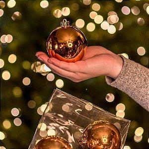 Bola Natalina Brilho Dourado