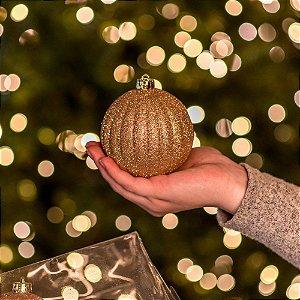 Bola Natalina Pumpkin Dourada