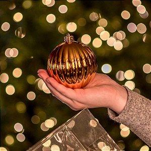 Bola Natalina Pumpkin Brilho Dourado