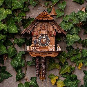 Relógio Cuco Mecânico Diário Vendedor de Relógios