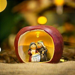 Sagrada Família na Maçã Resina Christmas
