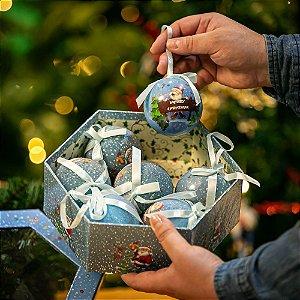 Bola de Natal Azul Acrílico
