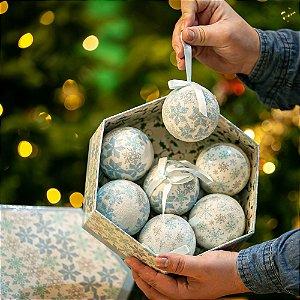 Bola de Natal Azul Bebê Acrílico