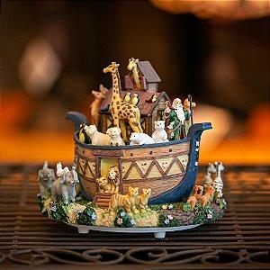 Caixa de Música a Corda Arca de Noé Resina