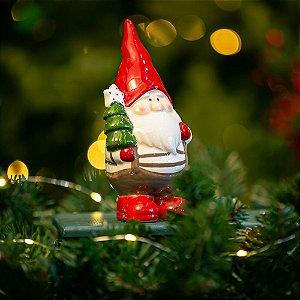 Papai Noel com Pinheiro Cerâmica