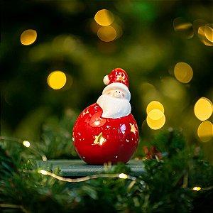 Porta Velas Papai Noel Cerâmica