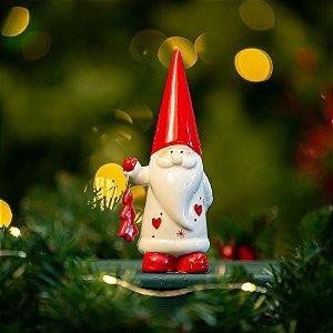 Papai Noel com Árvore Cerâmica