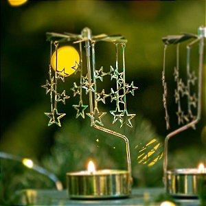 Girandola Estrela Dourada Christmas