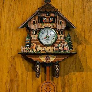 Relógio Cuco Beijoqueiro Pequeno Réplica Chalé