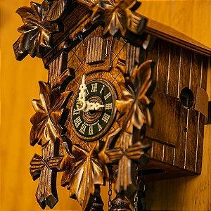 Relógio Cuco Mecânico Diário 5 Folhas