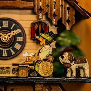 Relógio Cuco Chalé Mecânico Diário Choppeiro
