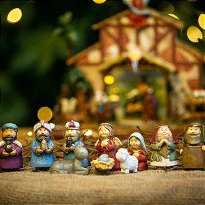 Mini Presépio Resina Christmas