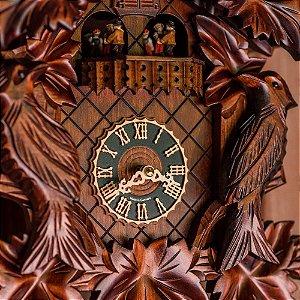 Relógio Cuco Pássaros com Grupo de Dança Eletrônico