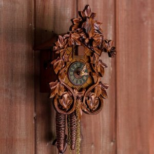 Relógio Cuco Flora Mecânico Diário Tradicional