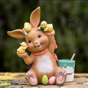 Coelha Mona Pintora Resina Candy&Funny
