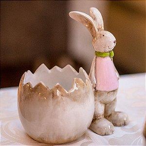 Coelha Dora Cachepot Cerâmica Home