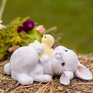 Coelhinha Lily Brincando Resina Lovely
