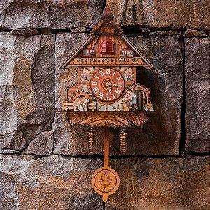 Réplica de Cuco com Pássaro Lenhador
