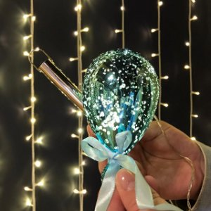 Balão Espelhado Azul Mini Cristal