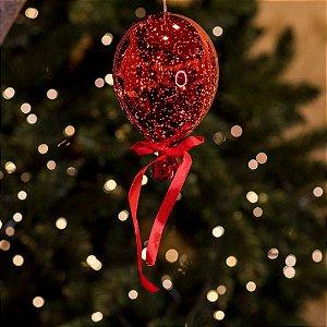 Balão Espelhado Vermelho Cristal