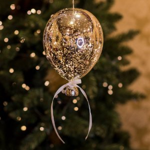 Balão Espelhado Prata Cristal