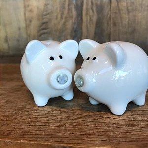 Saleiro e Pimenteiro Porcos Cerâmica