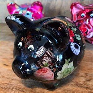 Cofrinho PIG Black Cerâmica