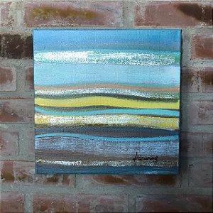 Tela a Óleo Abstrata Waves