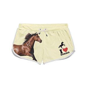 Short curto praia I Love Horses feminino