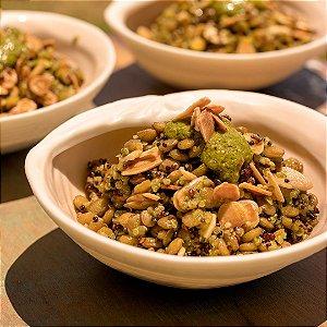 Salada de Lentilha ao Pesto com Quinoa - 300g/546Kcal