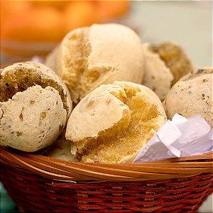 Pão de Mandioquinha com Linhaça 15 unid. - 450g/63Kcal cada