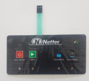 Teclado SMD para Lavadora Netter Mod. NT-200 e NT-300
