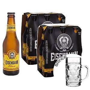 Cerveja Nacional Eisenbahn Pilsen 355ml Caixa (12 unidades) + 1 Caneca de Brinde