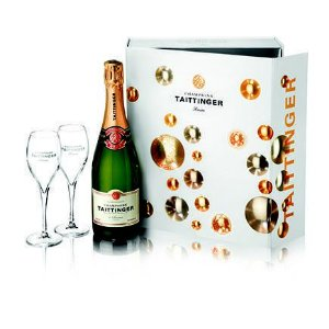Kit Champagne Francês Taittinger + 2 Taças