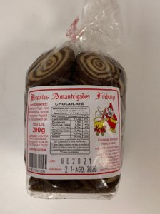 Biscoito Amanteigado Friburgo Rocambolé Chocolate 200g