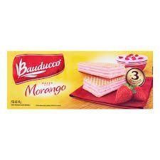 Biscoito Bauducco Wafer Morango 140g