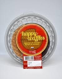 Biscoito Happy Waffles Cobertura Chocolate 300g