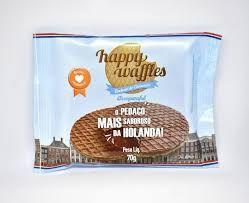 Biscoito Happy Waffles Recheado 70g