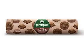 Biscoito Piraque Recheado Chocolate 160g