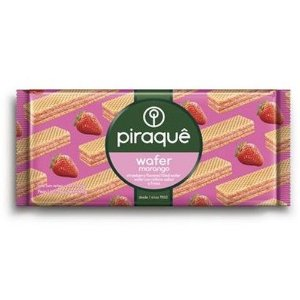 Biscoito Piraque Wafer Morango 160g