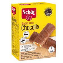 Biscoito Schar Chocolix Recheado Caramelo C/Cobertura Chocolate 110g