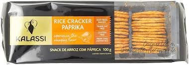 Snack Tailandês Kalassi sem Glutén Rice Cracker Páprica 100g