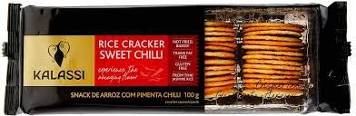Snack Tailandês Kalassi sem Glutén Rice Cracker Sweet Chilli 100g