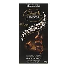 Chocolate Suiço Lindt Lindor Dark 100g