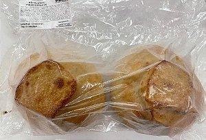 Pão Rústico Italiano Bola Assado e Congelado com 2 unidades