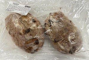 Pão Rústico Passas Assado e Congelado com 2 unidades