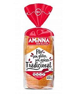 Pão Aminna Tradicional Sem Açúcar Sem Glúten Congelado 450g
