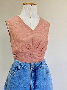 Blusa Rosê Drapeado